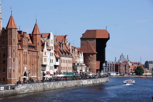 widok na żuraw w Gdańsku