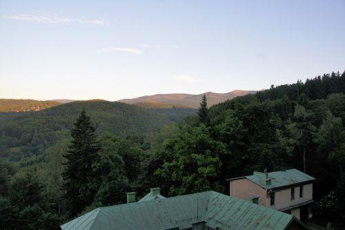 Zielona szkoła Karkonosze, widok na góry