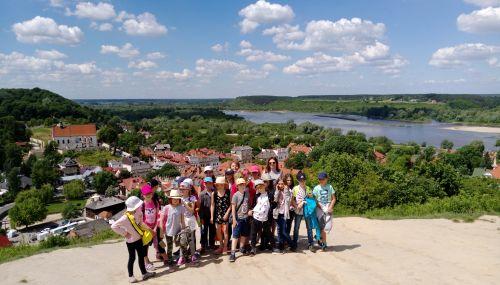 Wycieczka szkolna Kazimierz Dolny, widok na zakole Wisły