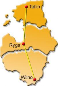 Mapa wycieczki Szlak nadbałtycki