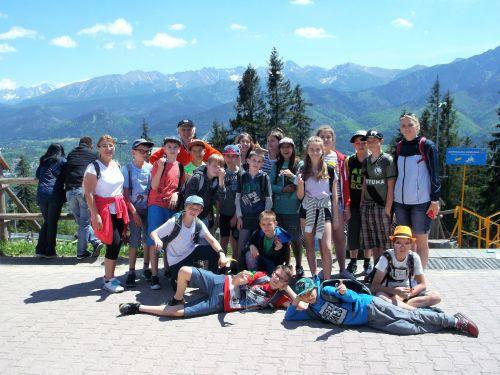Zielona szkoła w Tatrach, widok z Gubałówki